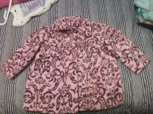 fleece pink demask jacket