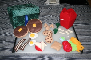 All the felt food