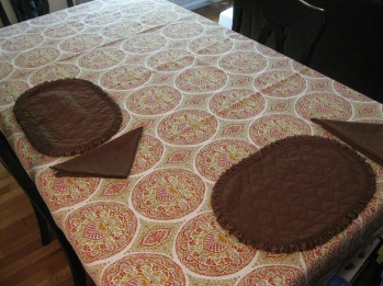 Table with brown place settings