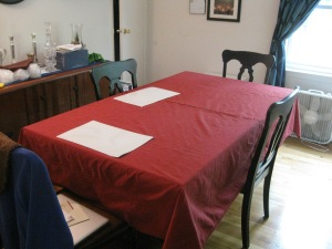 table cloth and runner project