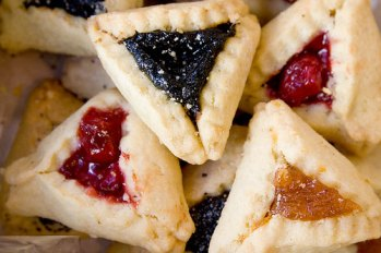 Real hamentashen cookies