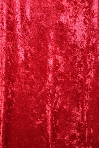Red crushed velvet