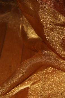 Gold sheer for drape