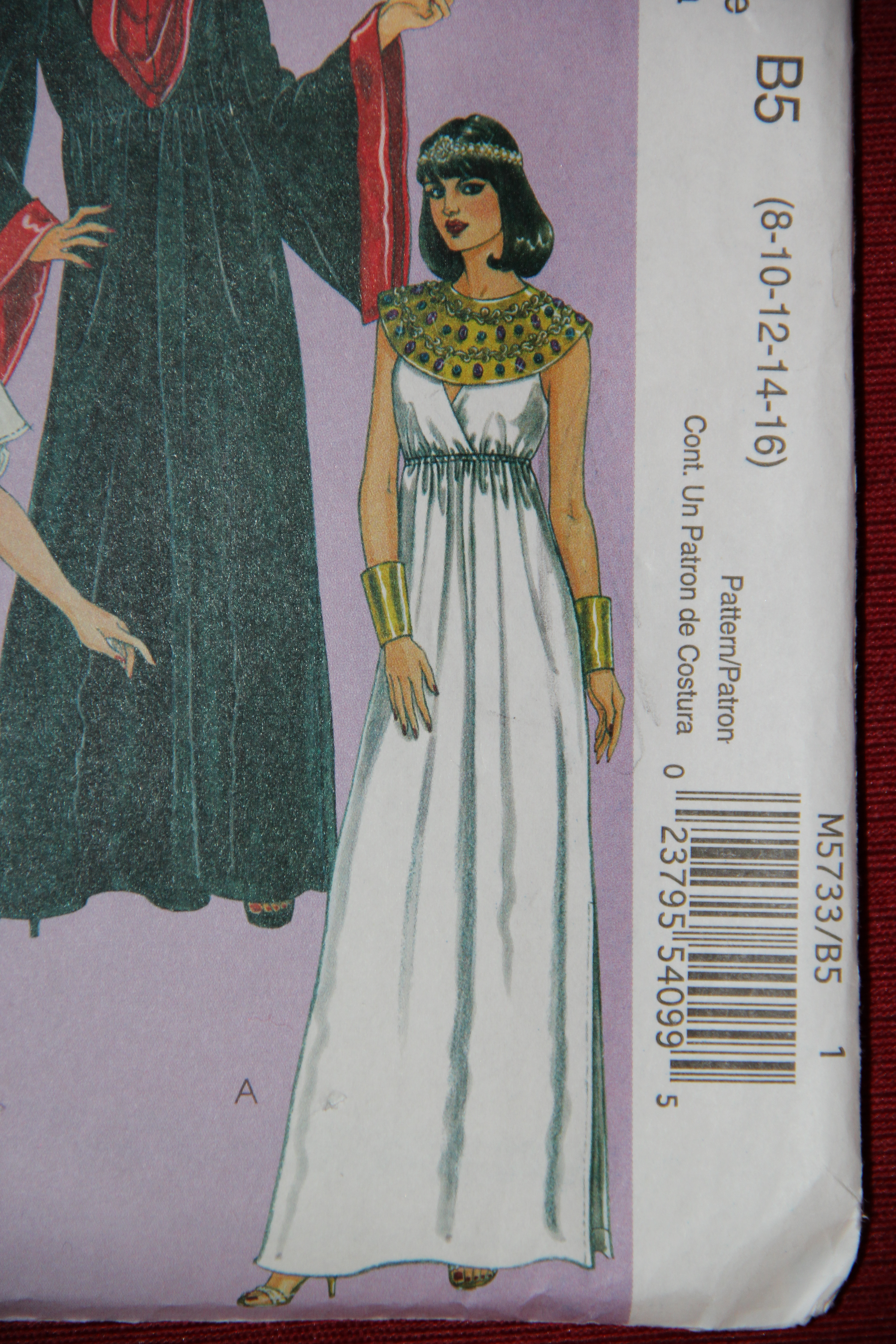 Purim costume Queen Esther 029 : egyptian costume pattern  - Germanpascual.Com