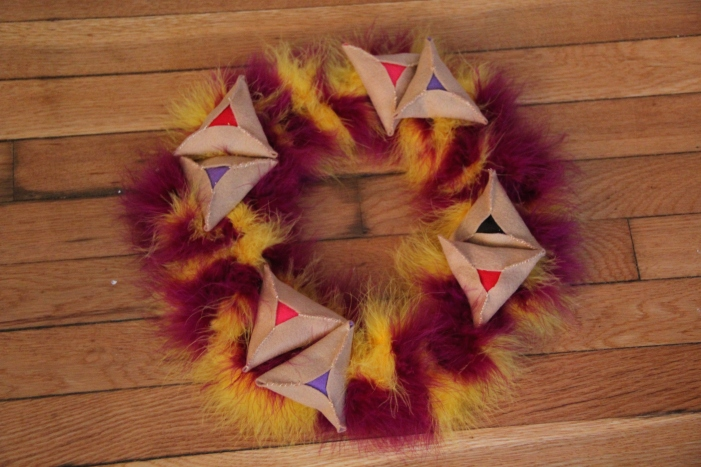 Purim table wreath 025