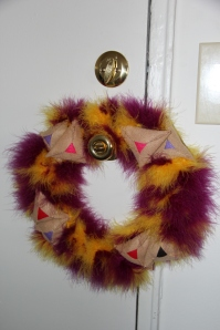 Purim table wreath 028