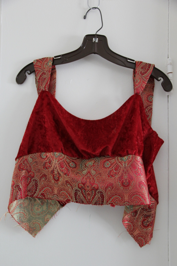 Bodice with contrasting midriff piece