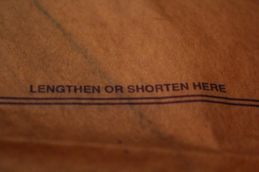 Lengthen or shorten here