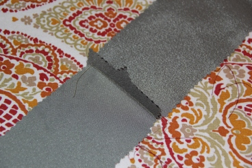 Edges of belt sewn together