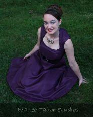 Plum party dress