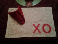 XO placemat