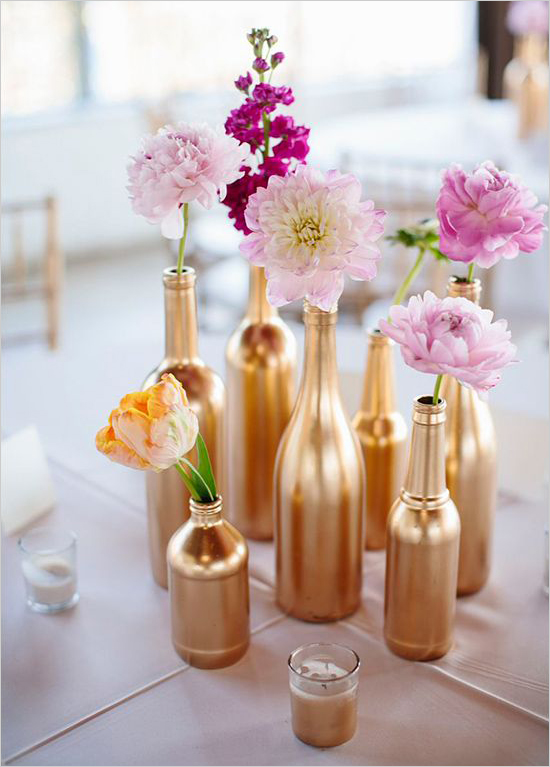 Gold bottles found on Pinterest