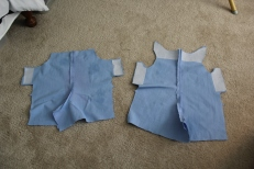Front and Back pieces sewn together