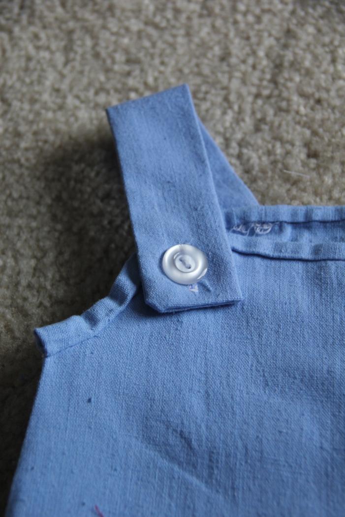 Button sewn on