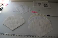 Making the shoulder quiltes