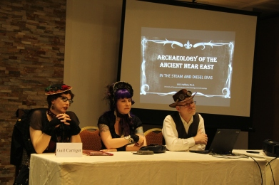 Steampunk Archaeology Panel with Gail Carriger, Author and Dr. Brad Hafford Archaeologist of U Penn Museum.