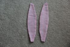 Shoulder straps sewn