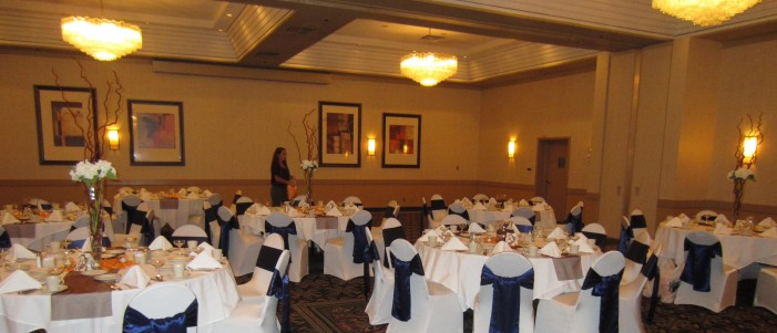 Our reception set up