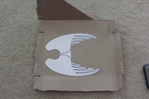 Cut out the wing pattern