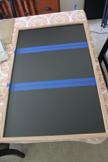 Horizontal lines taped out